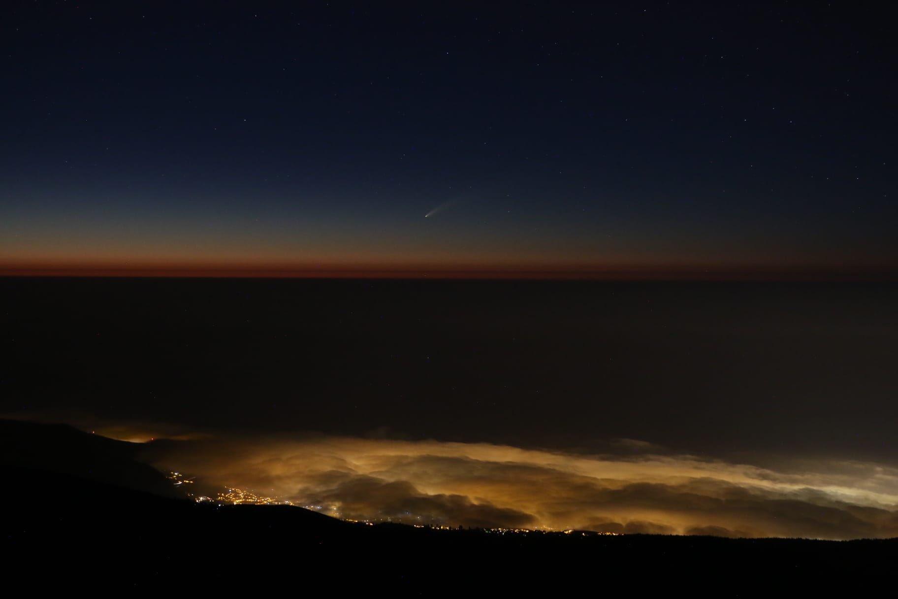 На севере испанского острова Тенерифе упал метеорит