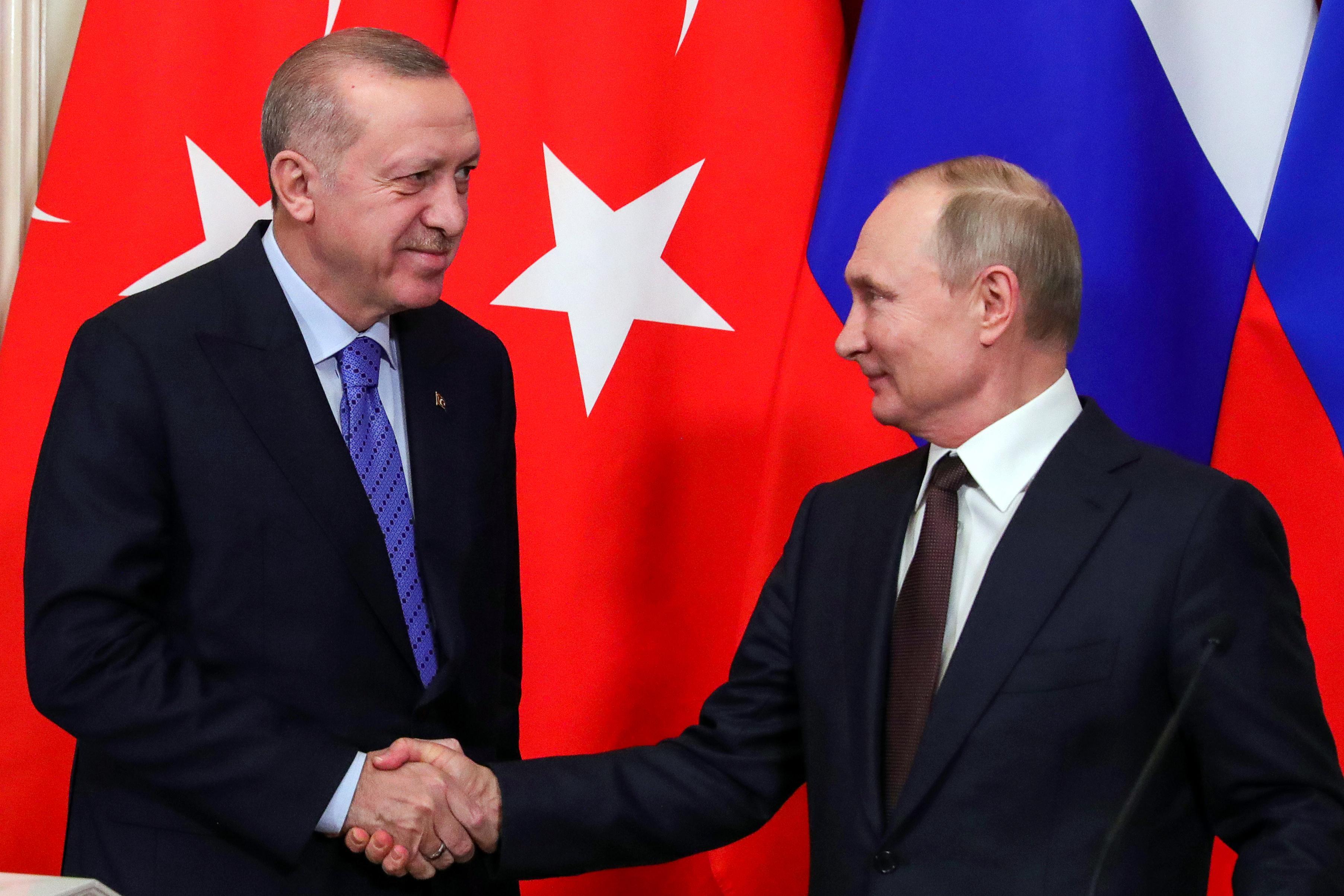 Путин и Эрдоган по телефону обсудили Сирию и Ливию