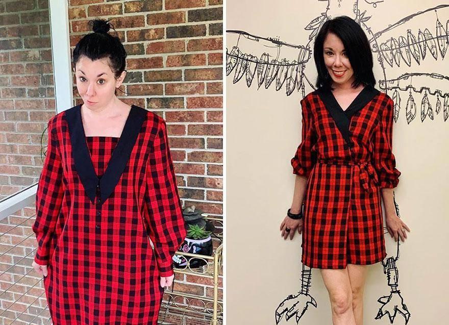 Девушка превращает ужасную одежду из секонд-хенда в наряды, которые вызовут зависть у любой модницы