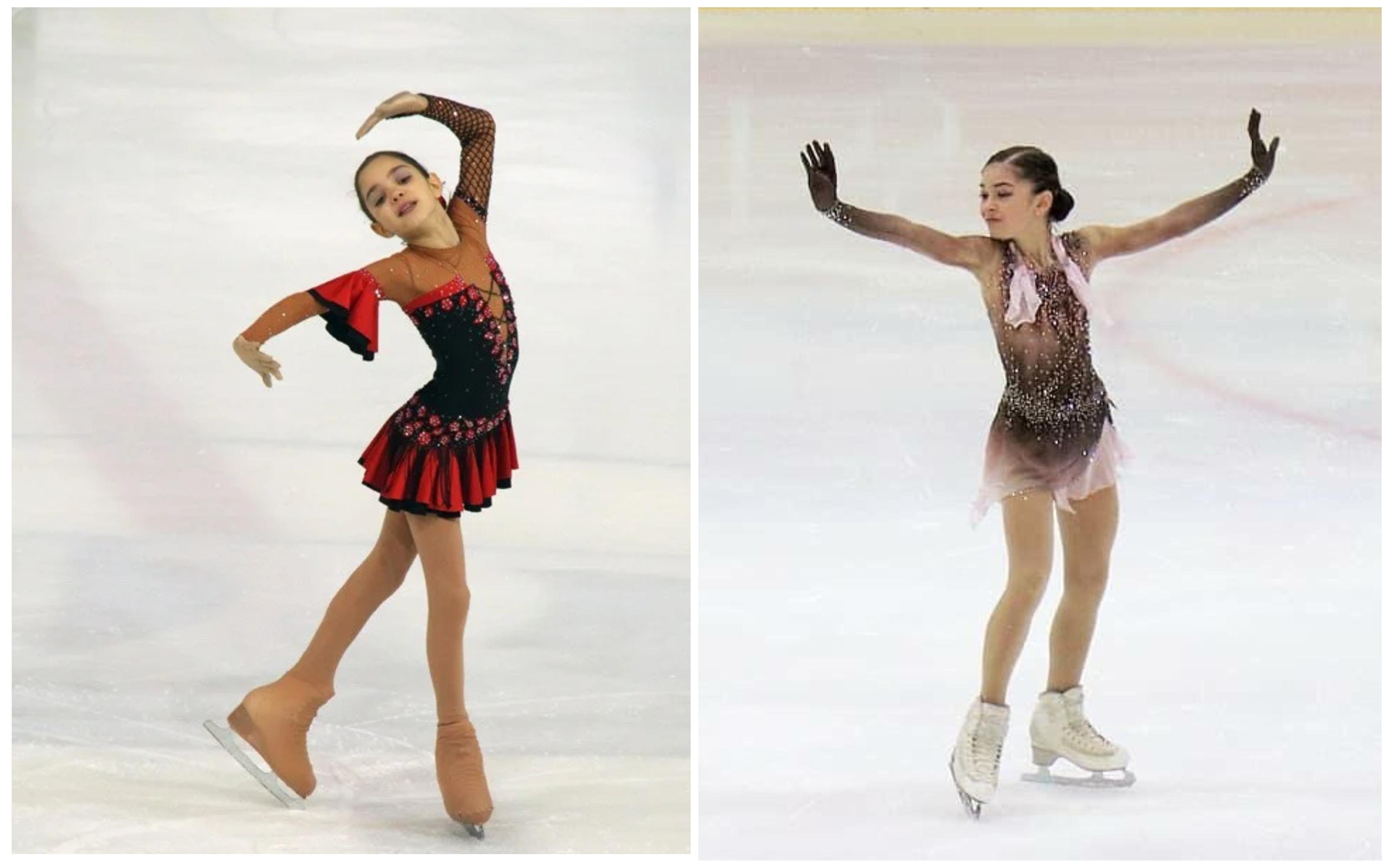 Слева Евгения Медведева, справа Аделия Петросян. Фото © instagram / adeliya_petrosian / jmedvedevaj