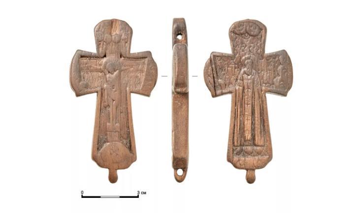 Крест с изображением Сергия Радонежского. Фото © Mos.ru