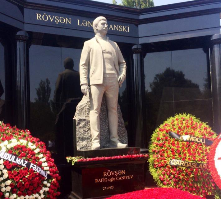 Памятник на могиле Ровшана Джаниева Ленкоранского. Фото ©primecrime.ru