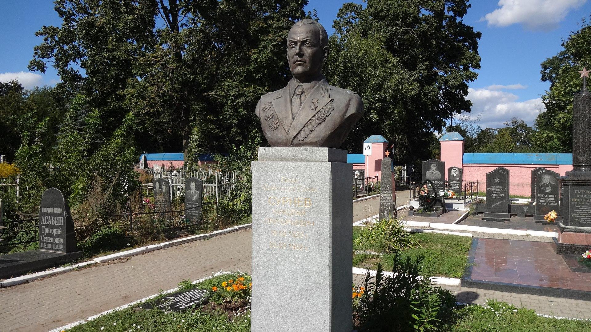 Надгробный памятник Николая Григорьевича Сурнева. Фото ©wikipedia