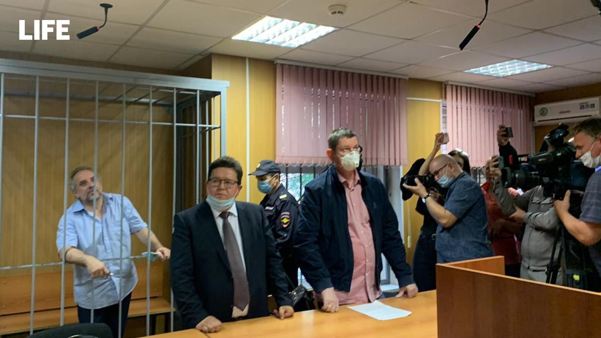 Олег Шереметьев в Пресненском суде Москвы. Фото © Life