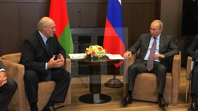 <p>Президенты России и Белоруссии Владимир Путин и Александр Лукашенко. Фото ©L!FE</p>