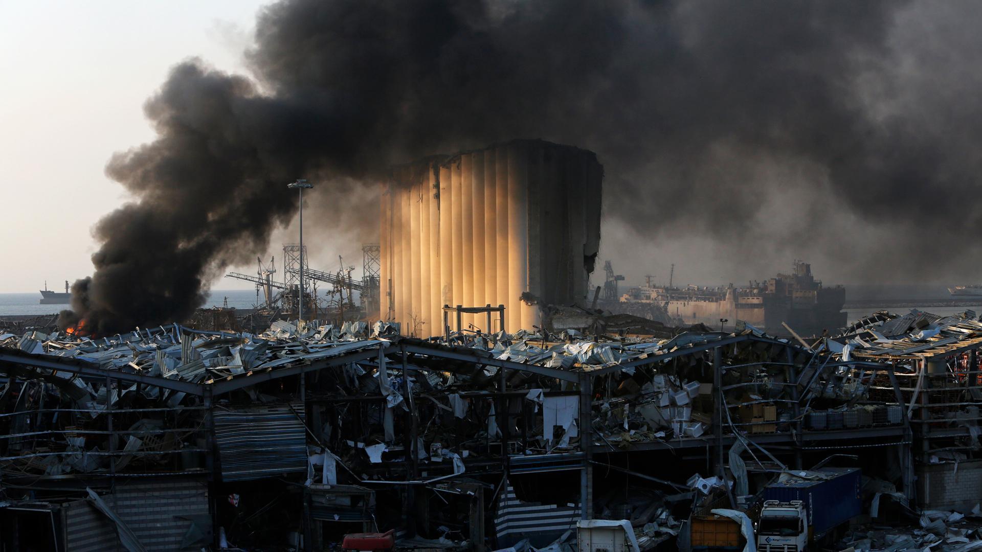 Последствие пожара в картинке