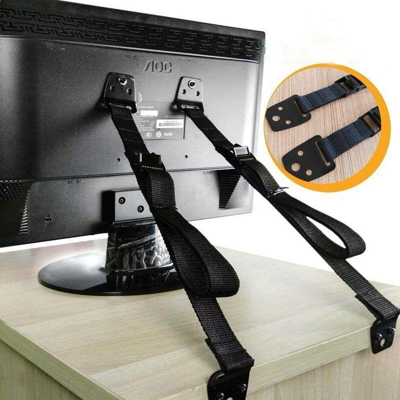 Ремни для фиксации телевизора. С ними протирать заднюю панель безопаснее, устройство не упадёт. Фото © AliExpress