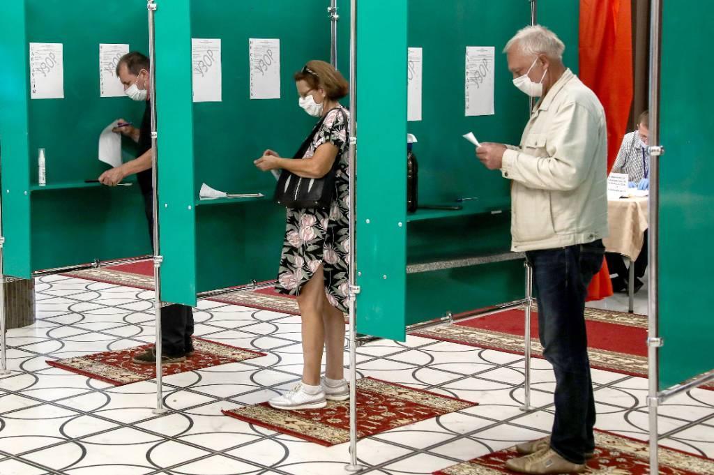 В Минске продолжается голосование на одном избирательном участке