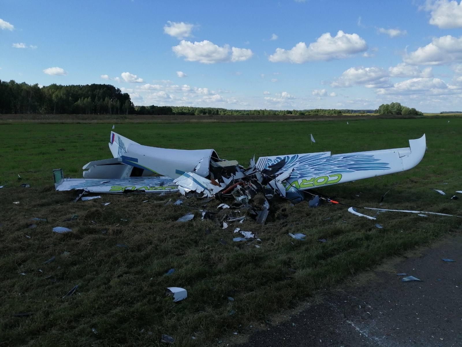 Легкомоторный самолёт совершил жёсткую посадку под Калугой. Пилот погиб