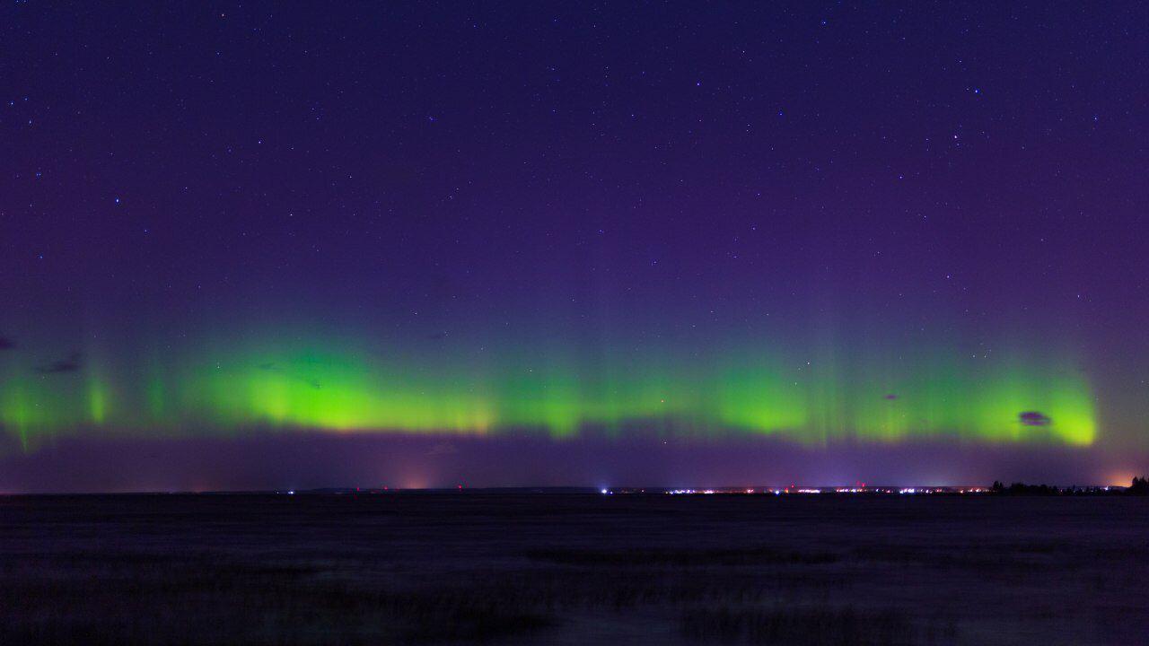 Северное сияние, Финский залив. Фото © Telegram / Астро Фото Болото