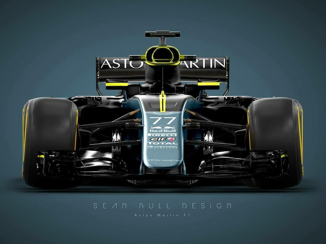 Концепт будущего болида Aston Martin. Фото © Twitter / seanbulldesign