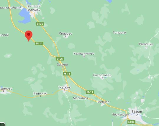 """Примерное местонахождение обломков. Изображение © """"Google Карты"""""""