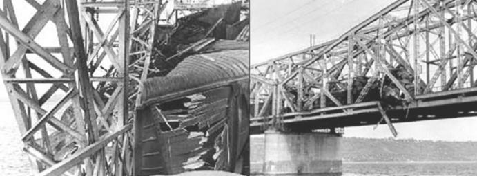Повреждённый мост. Фото © chanych-85.livejournal.com