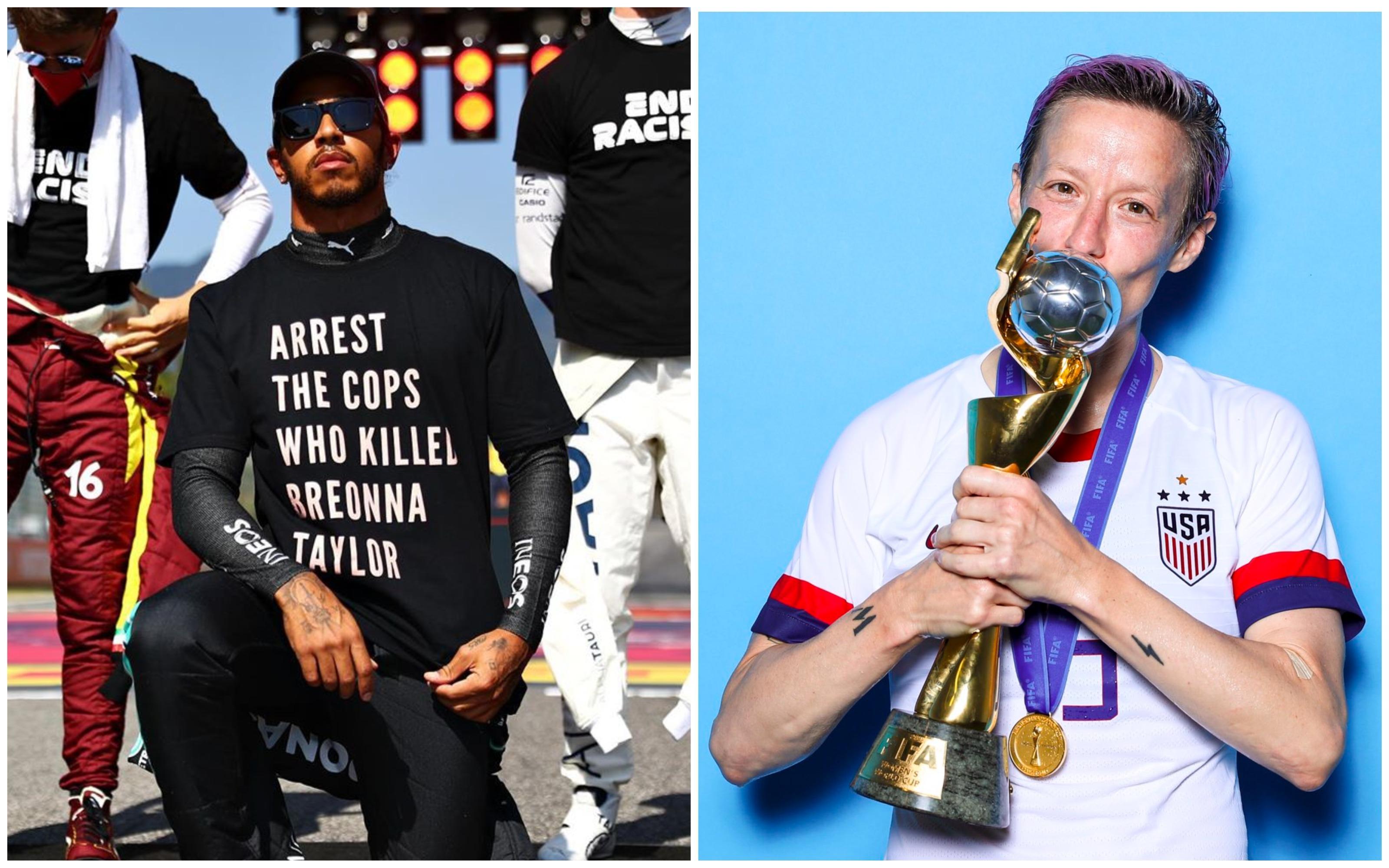 Темнокожий гонщик и футболистка-лесбиянка. Самые влиятельные спортсмены мира