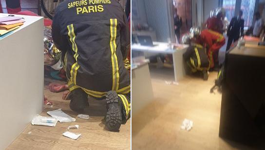 """Неизвестный с ножом напал на прохожих у здания редакции """"Шарли эбдо"""" в Париже, есть раненые"""