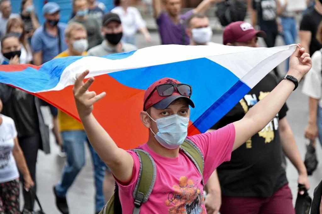 В Хабаровске на несанкционированную акцию пришло около 500 человек