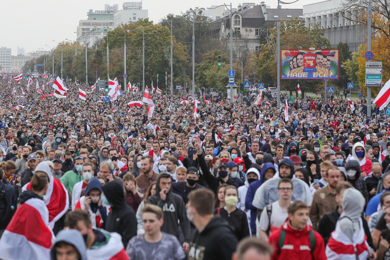 В Белоруссии назвали число задержанных участников протестов