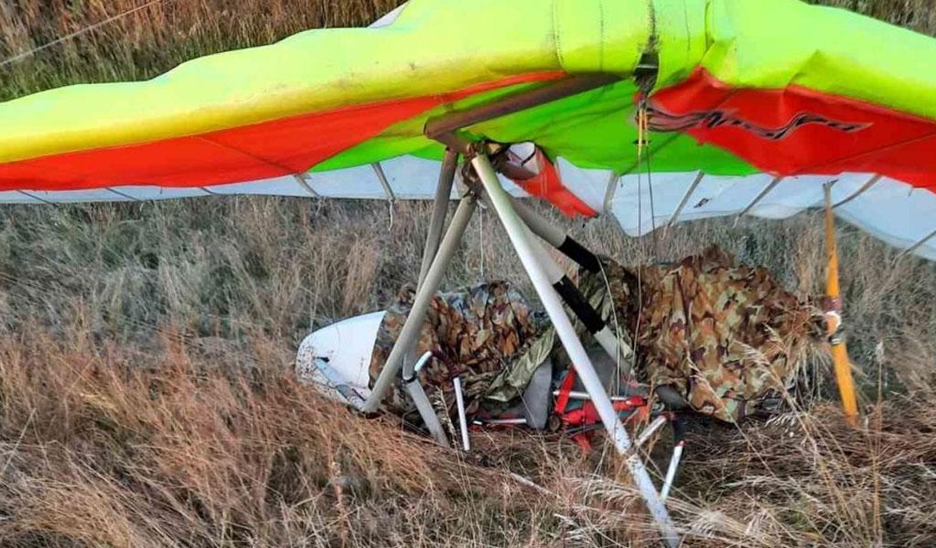 Мотодельтаплан совершил жёсткую посадку под Самарой, пилот госпитализирован