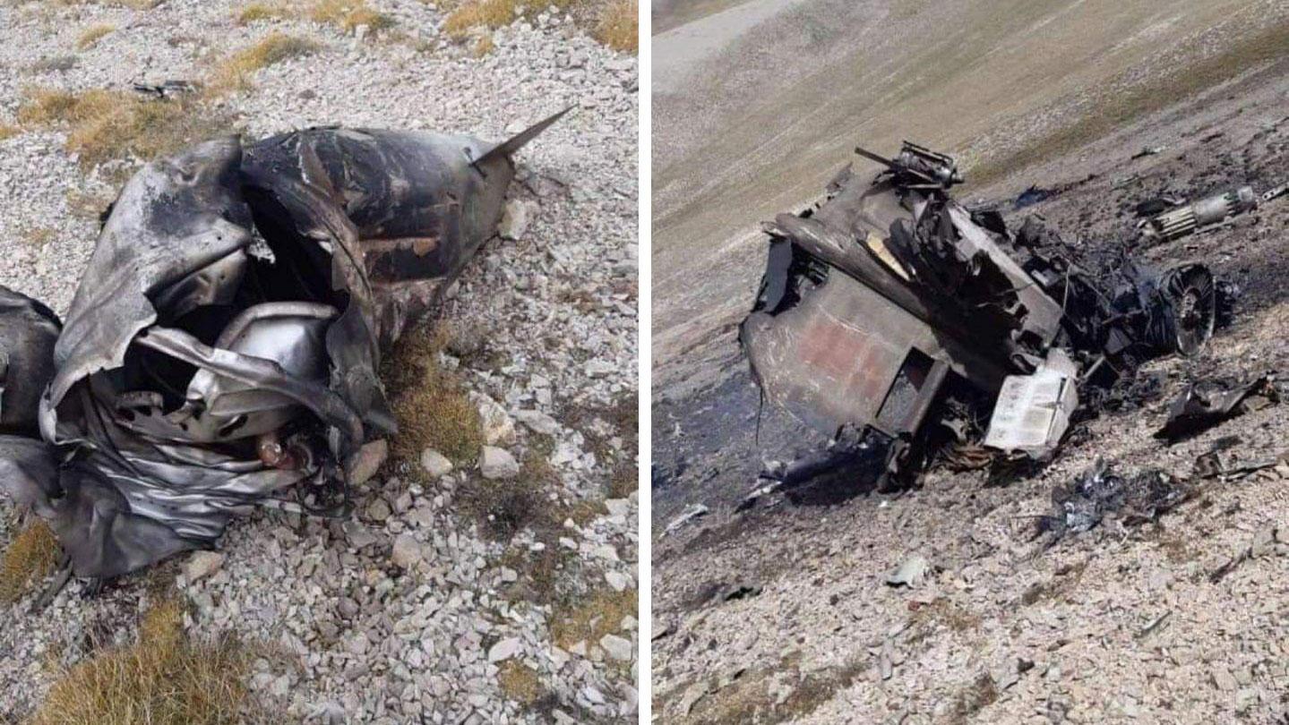 В Сети появились фотографии сгоревшего штурмовика Су-25 ВВС Армении