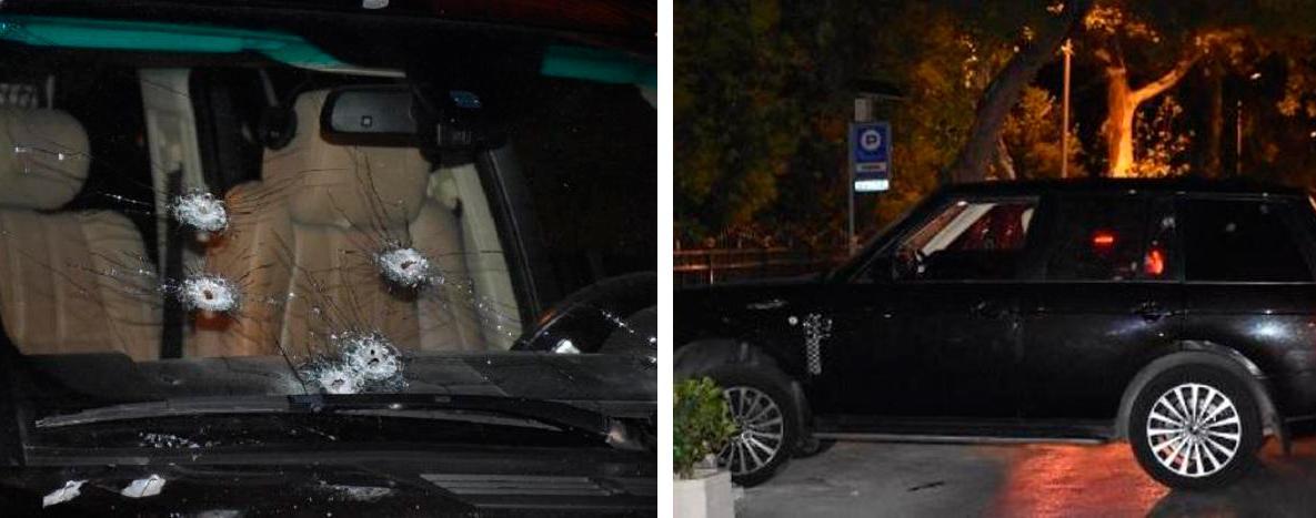 Фото © Femida.az. Кадры с места расстрела автомобиля Ровшана Ленкоранского в Стамбуле
