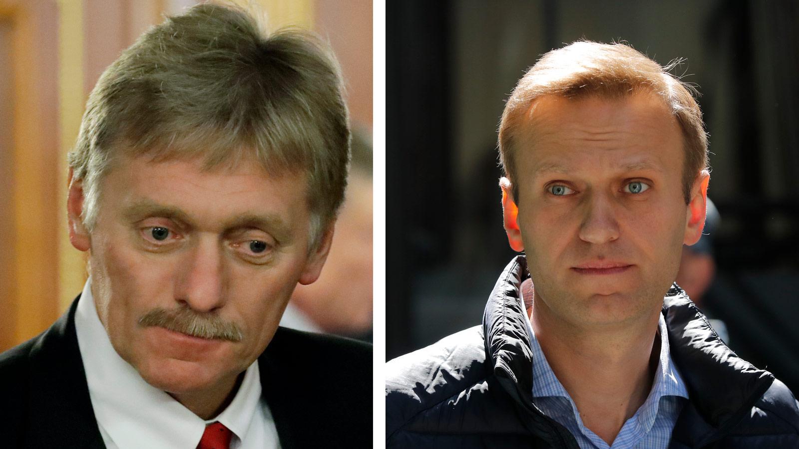 Песков заявил о сотрудничестве Навального с ЦРУ