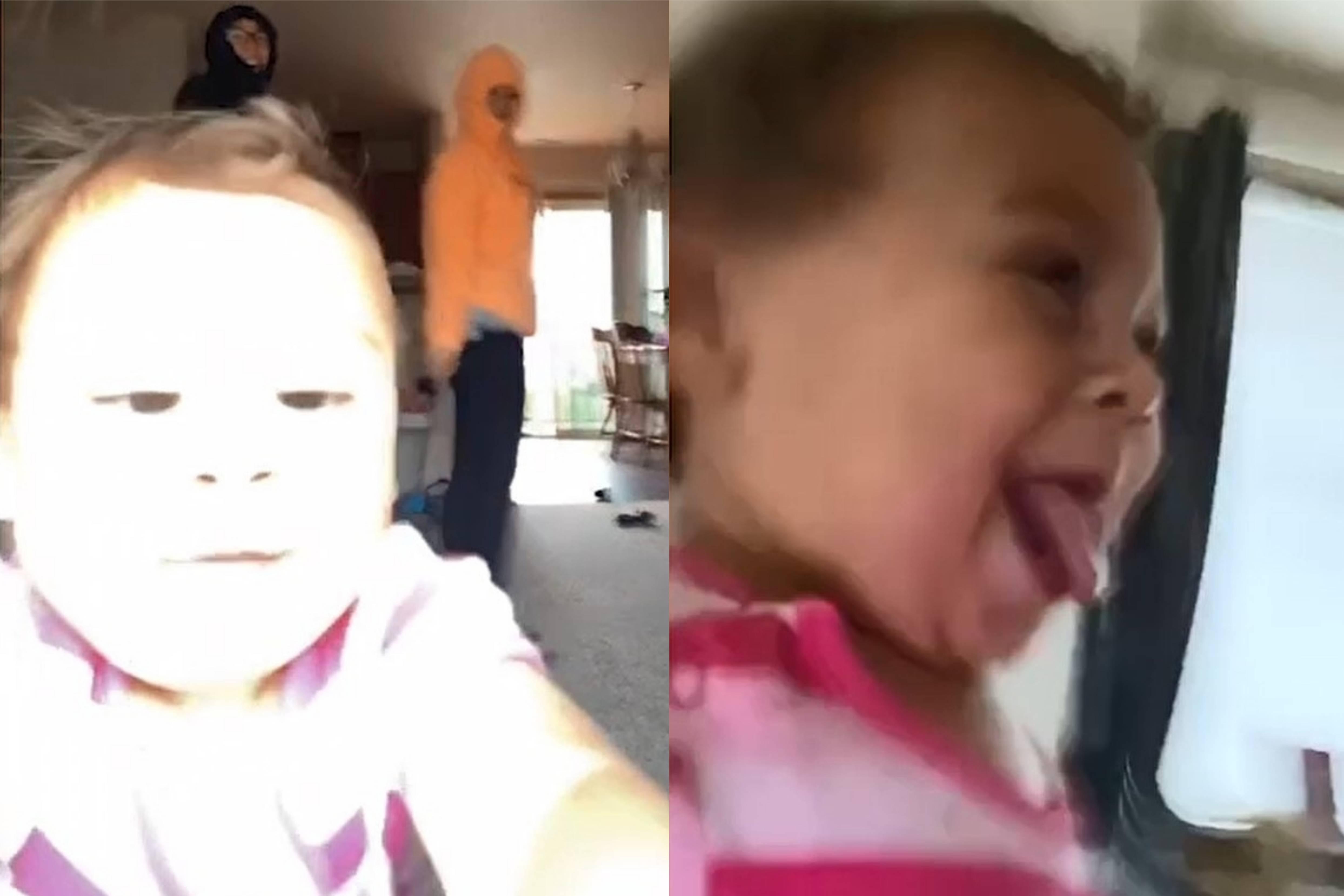 Подруги решили снять видео в TikTok, но малышка украла мамин телефон, а за ним — и всю её славу
