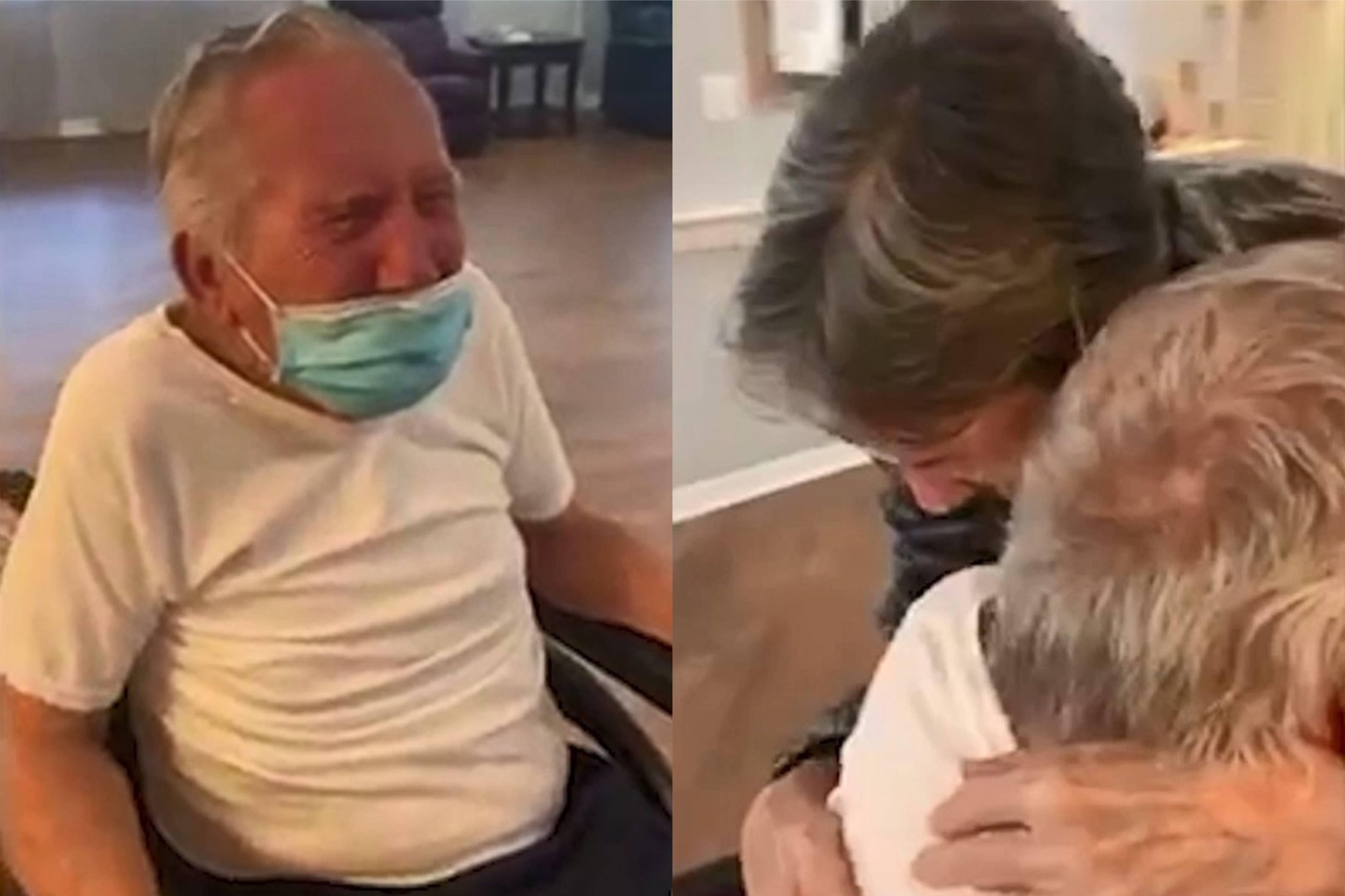 Супруги 60 лет провели вместе, но карантин разделил их на 7 месяцев — видео трогательной встречи