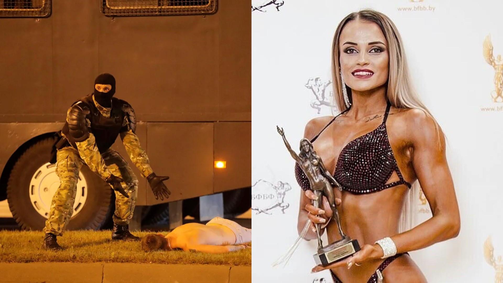 Жена бросила спецназовца из Белоруссии, фото с которым стало вирусным в первую ночь протестов