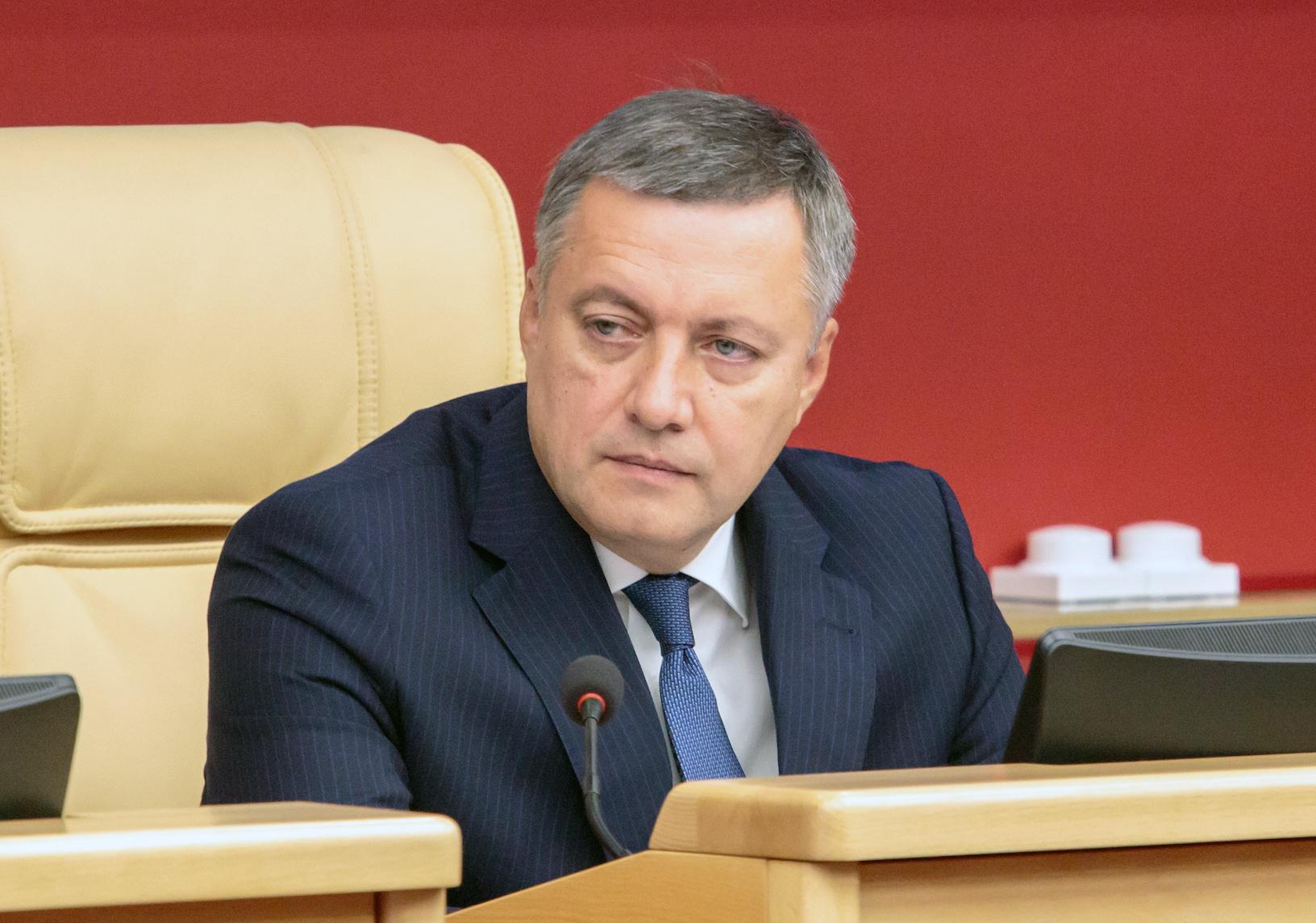 Глава Иркутской области Кобзев заразился коронавирусом