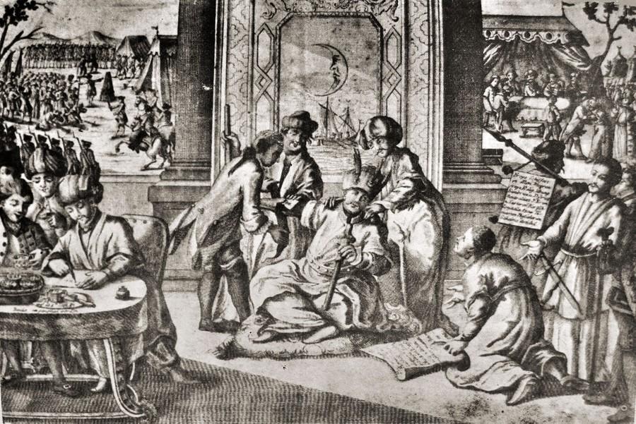 Сцена подписания Кючук-Кайнарджийского мира. Фото ©wikipedia
