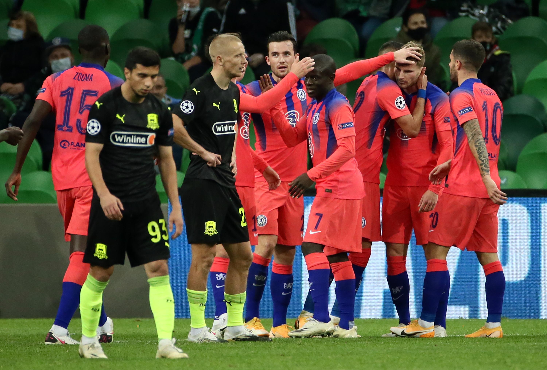"""Два пенальти и ошибка вратаря. """"Краснодар"""" разгромно проиграл """"Челси"""" в Лиге чемпионов"""