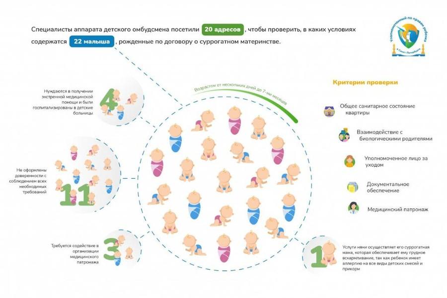 Инфографика © Сайт уполномоченного по правам ребёнка в Санкт-Петербурге