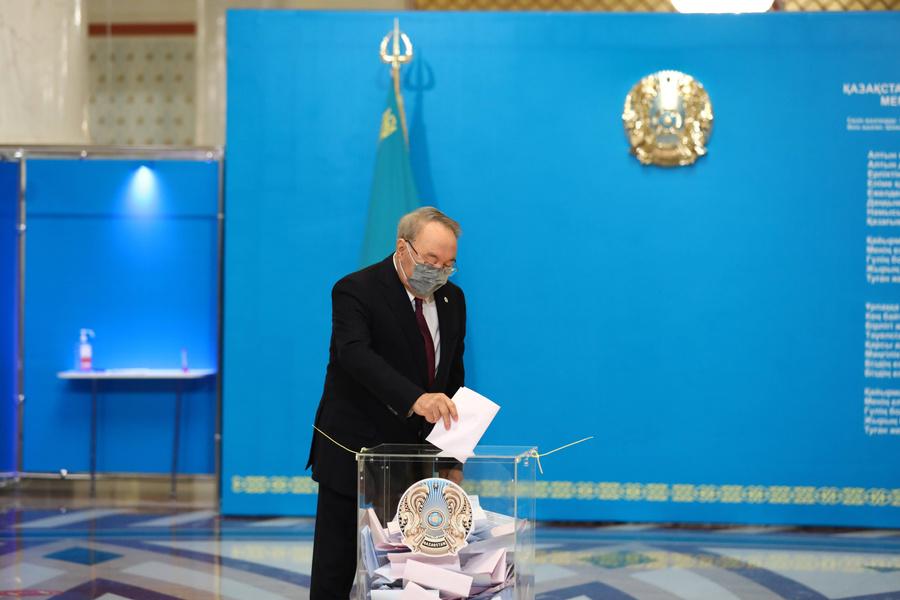 "<p>Лидер партии ""Нур Отан"" Нурсултан Назарбаев. Фото © ТАСС / imago images / Xinhua</p>"