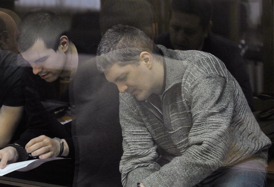 "<p>Руслан Костыленков, Пётр Карамзин (слева направо). Фото © Агентство ""Москва"" / Александр Авилов</p>"