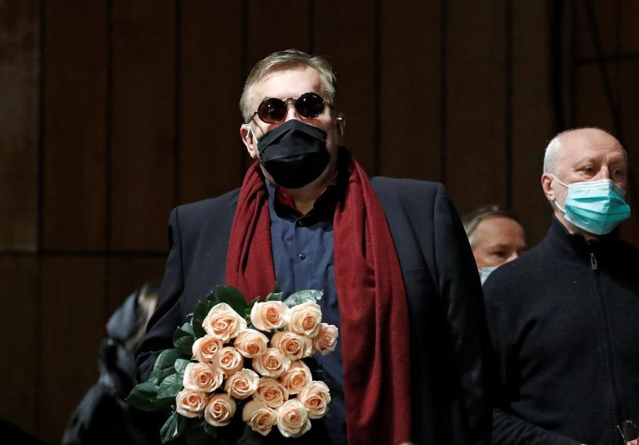 <p>Станислав Садальский во время церемонии прощания с Борисом Грачевским. Фото © ТАСС / Артём Геодакян</p>