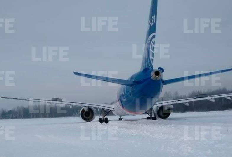 МС-21 выкатился за пределы посадочной полосы в аэропорту Жуковский