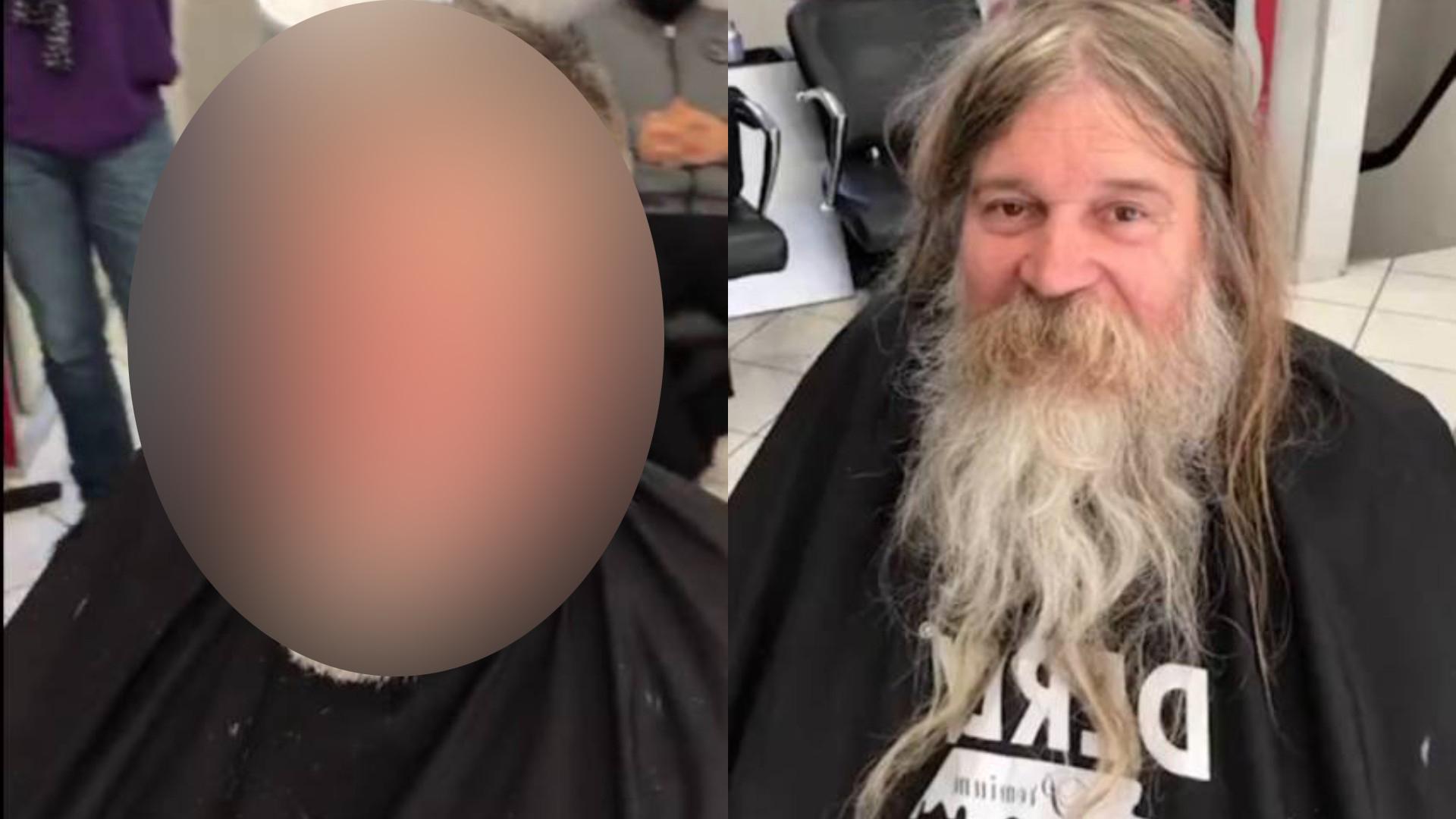 Парикмахер подстриг бродягу, не подозревая, что заросший старик превратится в мужчину редкой красоты