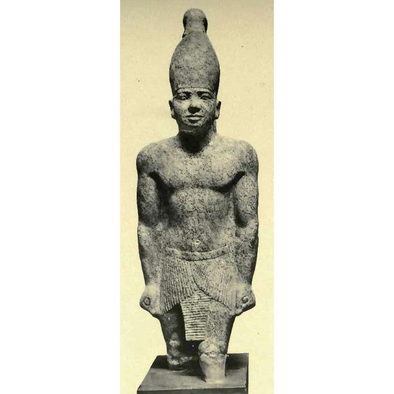 Статуя, предположительно, изображающая фараона Тети, найденная недалеко от его пирамиды. Фото © Википедия