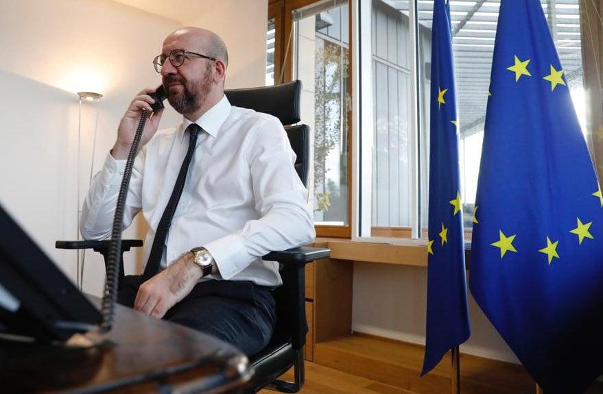 Глава Евросовета обсудил по телефону с Путиным арест Навального