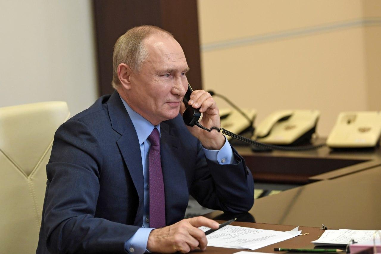 Путин провёл телефонный разговор с Байденом