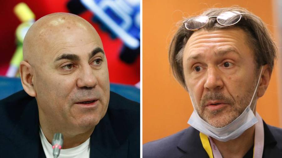 <p>Иосиф Пригожин и Сергей Шнуров. Фото© ТАСС / Епихин Андрей</p>