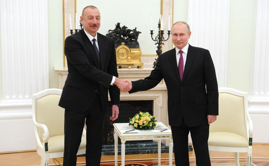<p>Президент РФ Владимир Путин и президент Азербайджана Ильхам Алиев. Фото © Kremlin</p>