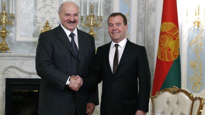 <p>Александр Лукашенко и Дмитрий Медведев. Фото © Правительство РФ</p>