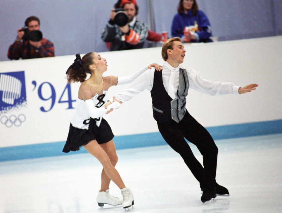 Майя Усова и Александр Жулин на Олимпиаде 1994 года. Фото © ИТАР-ТАСС / Сергей Чистяков