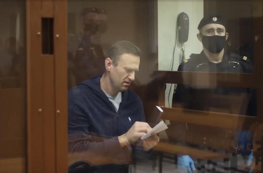 <p>Подсудимый Алексей Навальный</p><p>Фото © Пресс-служба Бабушкинского суда Москвы</p>