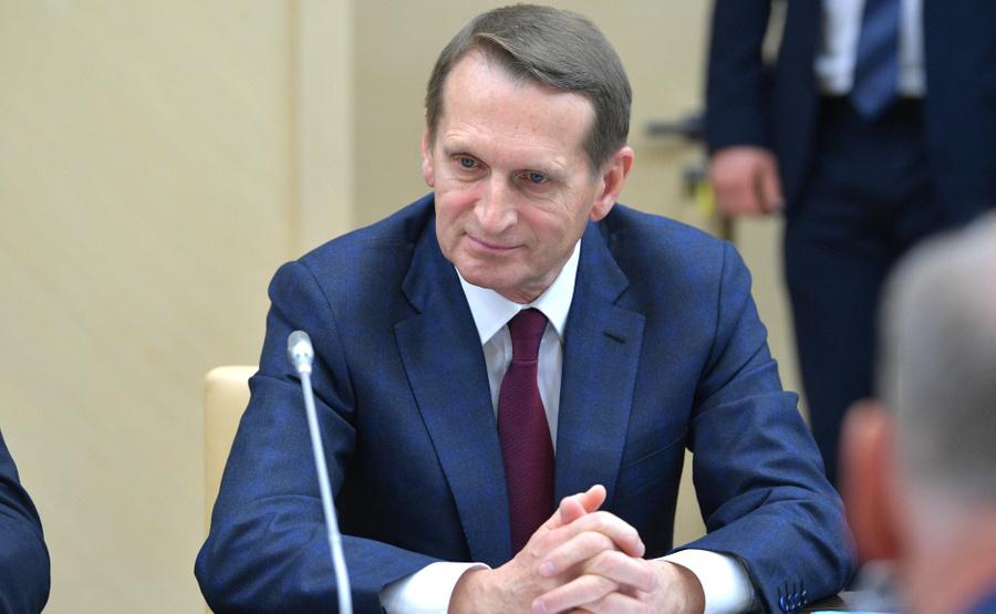 <p>Директор Службы внешней разведки Сергей Нарышкин. Фото © Kremlin</p>