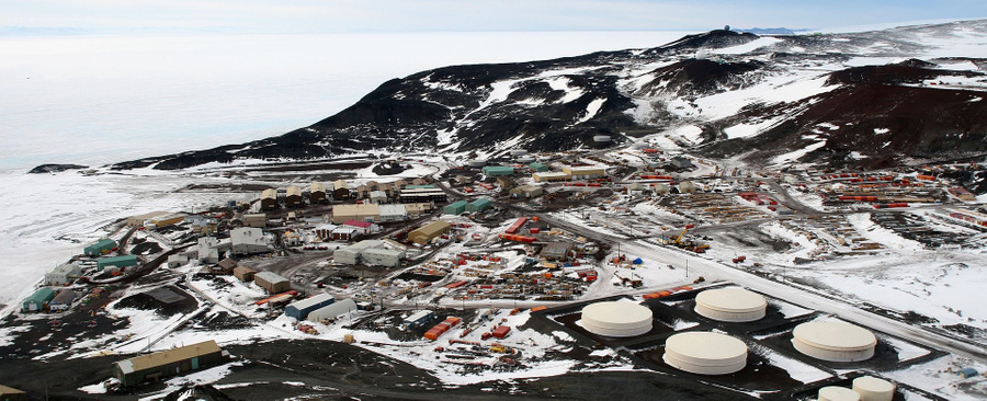 """Антарктическая станция """"Мак-Мердо"""". Фото ©wikipedia"""