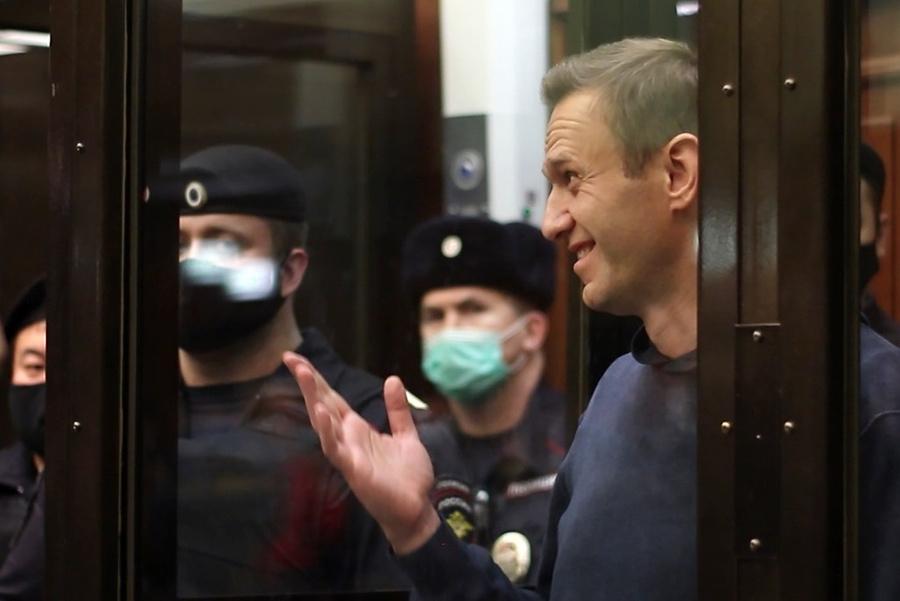 <p>Подсудимый Алексей Навальный. Фото © ТАСС / Пресс-служба Мосгорсуда</p>