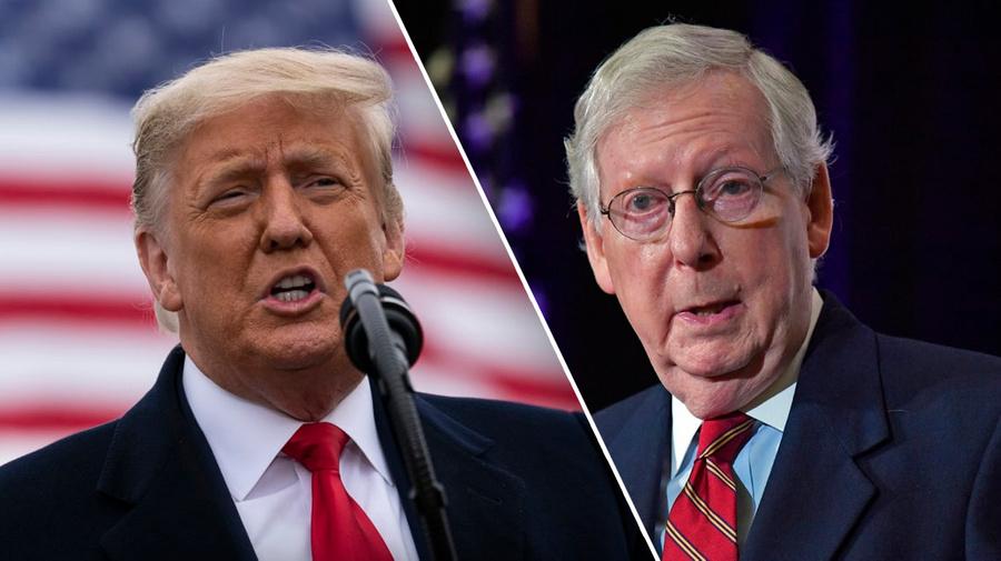 <p>Дональд Трамп и Митч Макконнелл. Коллаж © LIFE. Фото © ТАСС / AP</p>
