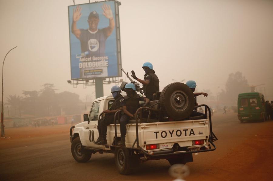 <p>Миротворцы ООН в ЦАР. Фото © ТАСС / AP Photo / Jerome Delay</p>